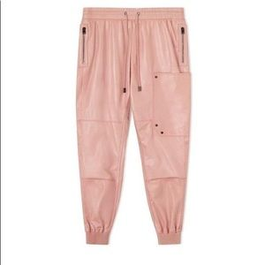 Tom Ford pink leather joggers